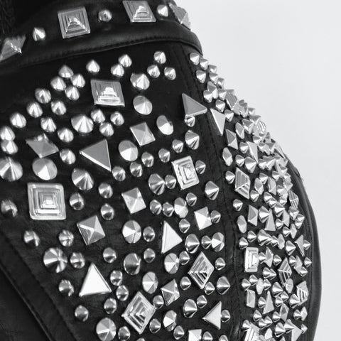 Silver On Black | Signature Studded Style by Marla Guloien