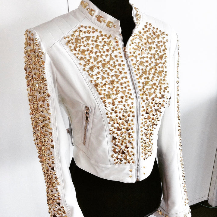 Gold On White | Signature Studded Style From Designer Marla Guloien | ShopGlamRock