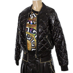 Quilted & Studded Leather Jacket