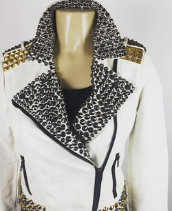 Rock and Roll Studded Leather Jacket