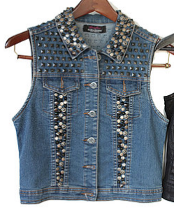 Wild Thing Studded Denim Vest