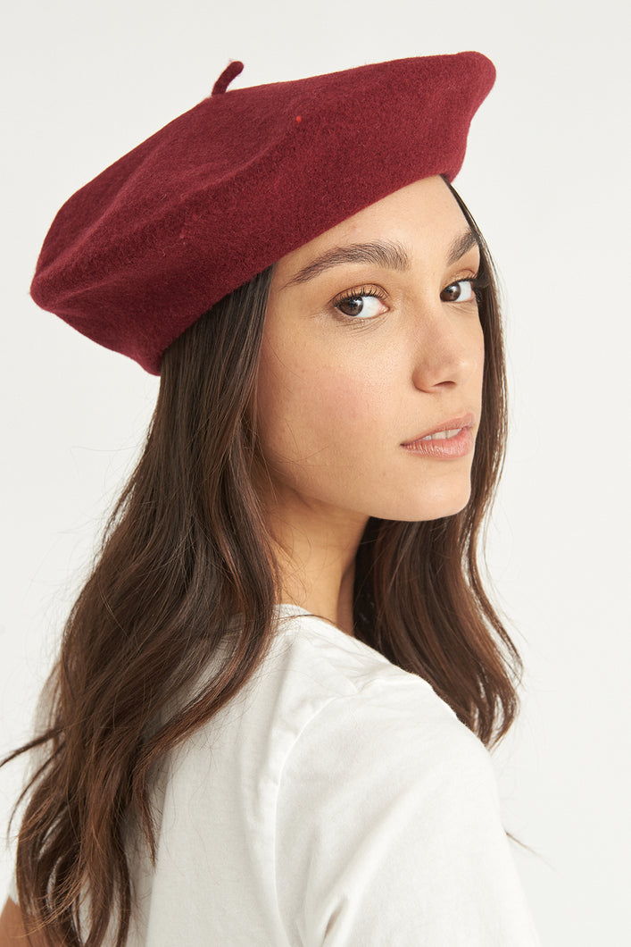 antidote wool beret bordeaux