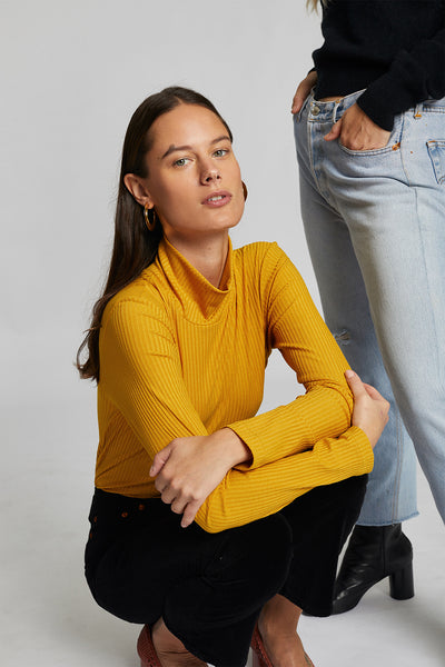 Jan 'N June Mio Turtleneck in Mustard