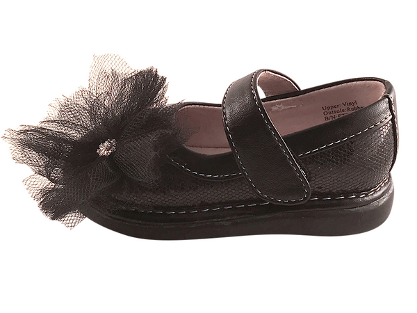 Black Sparkle Convertible Mary Jane Toddler Squeaky Shoes for Girls - Pickle Footwear