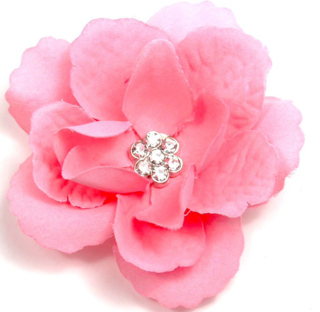 Light Pink 3-Layer Flower Accessory Clip (pair) - Pickle Footwear