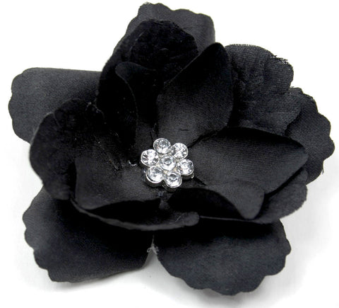 Black 3-Layer Flower Accessory Clip (pair) - Pickle Footwear