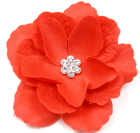 Red 3-Layer Flower Accessory Clip (pair) - Pickle Footwear