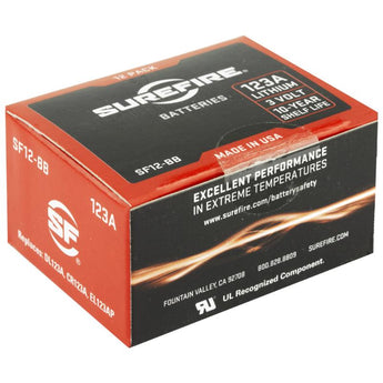 123A Lithium Batteries - Box of 12 Box - HCC Tactical