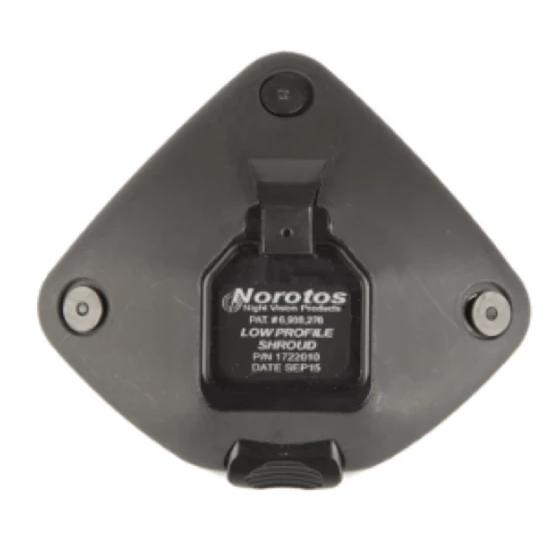 Black; Norotos 3 Hole Low Profile Shroud - HCC Tactical