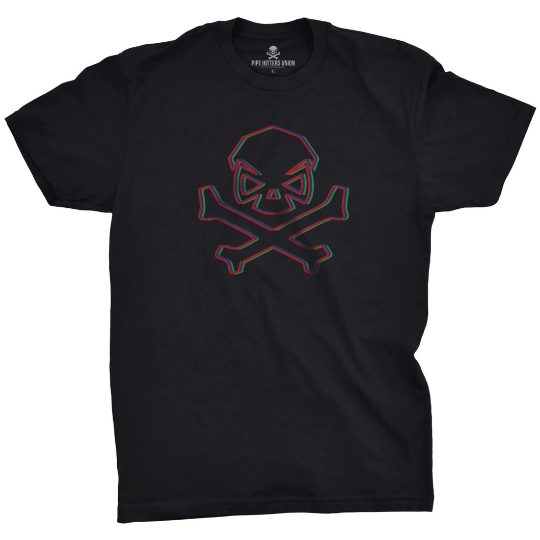 Black; Pipe Hitters Union 3D Hitter Tee - HCC Tactical