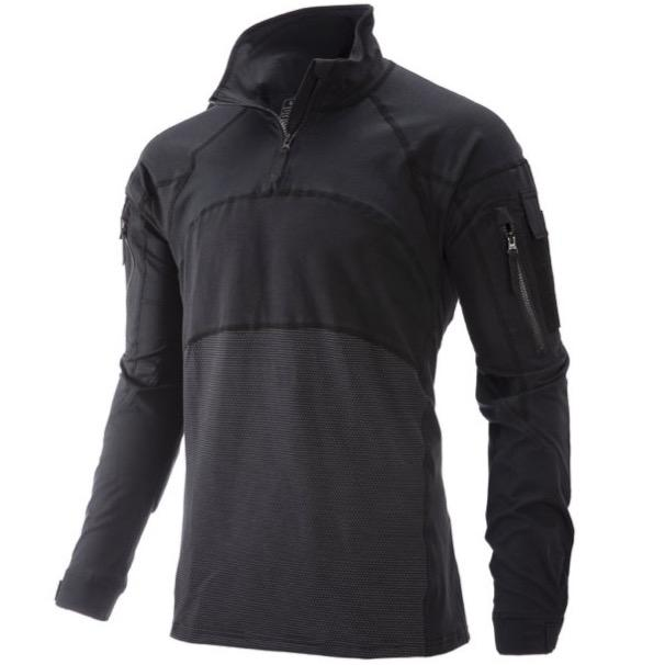 Black; Massif - Advanced Quarter Zip Combat Shirt (FR) - HCC Tactical