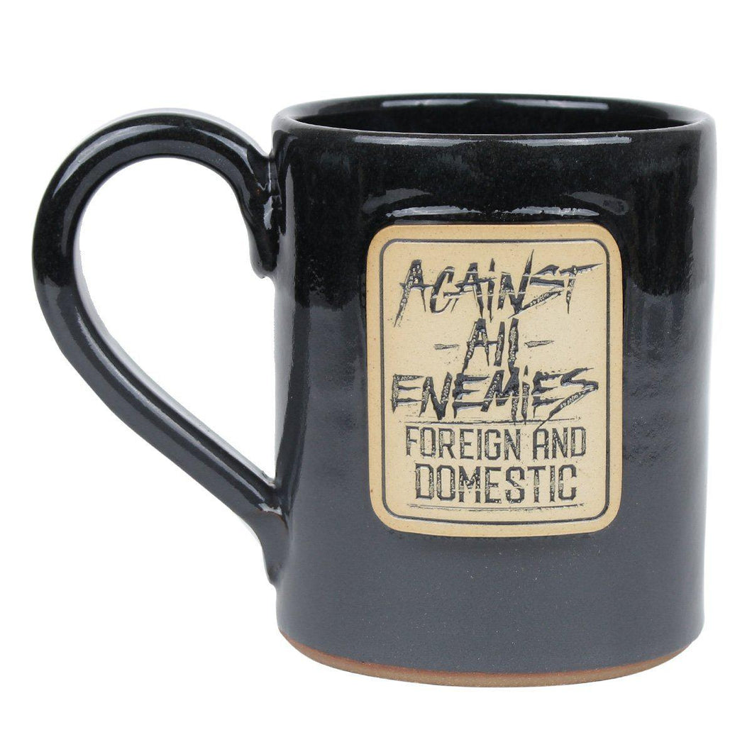 Black / Tan; Pipe Hitters Union Against All Enemies - 14 oz Coffee Mug - HCC Tactical