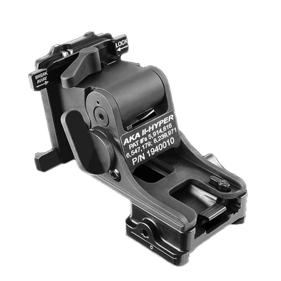 Black;  Norotos AKA II HYPER Helmet Mount - HCC Tactical