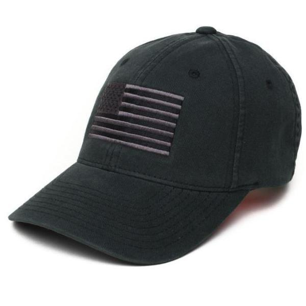 Black / Gray; Pipe Hitters Union American Flag Flexfit Hat - HCC Tactical