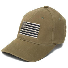 Olive; Pipe Hitters Union American Flag Flexfit Hat - HCC Tactical