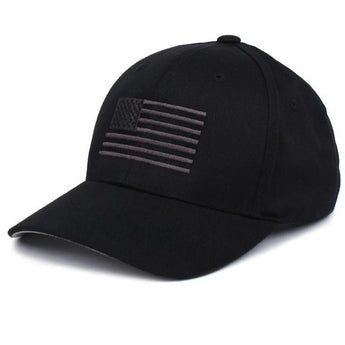 Black/Gray;  PHU American Flag Hat - Youth - HCC Tactical