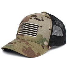 Green / MultiCam; Pipe Hitters Union American Flag Trucker Hat - HCC Tactical