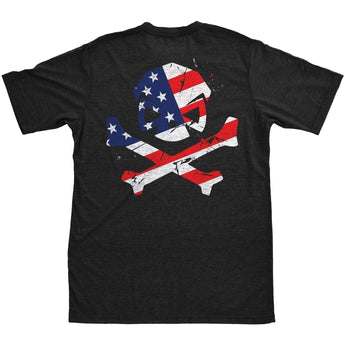 alt - Black; Pipe Hitters Union American Patriot Tee - HCC Tactical