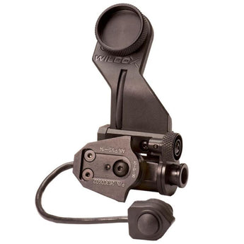 Black; Wilcox AN/PVS-14 Arm with NVG Interface Shoe with On/Off Switch - HCC Tactical