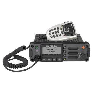 Black; Motorola APX™ 1500 Single-Band P25 Mobile Radio - HCC Tactical