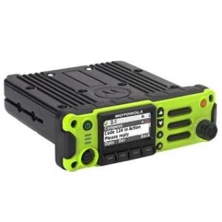 High Impact Green; Motorola APX™ 4500 Single-Band P25 Mobile Radio Side - HCC Tactical