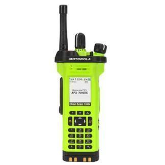 High Impact Green; Motorola APX™ 7000XE Multi-Band P25 Portable Radio - HCC Tactical