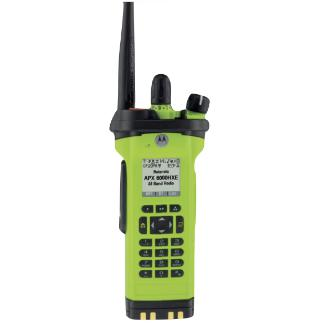 High Impact Green; Motorola APX™ 8000HXE All-Band P25 Hazloc Portable Radio - HCC Tactical