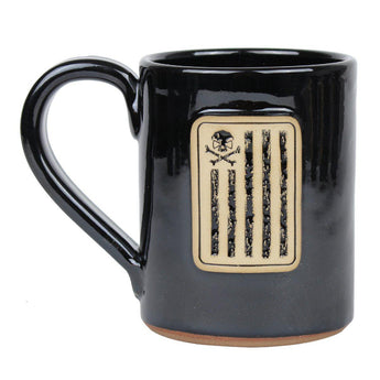 Black / Tan; Pipe Hitters Union Battle Stripes - 14 oz Coffee Mug - HCC Tactical