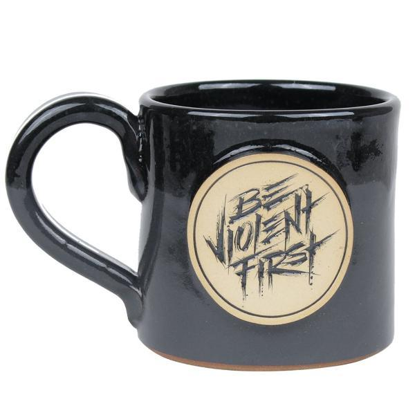 Black / Tan; Pipe Hitters Union Be Violent First - 14 oz Coffee Mug - HCC Tactical