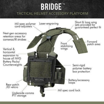 Agilite Bridge Helmet System Spec Sheet - HCC Tactical