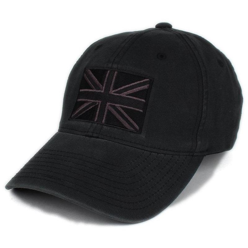 Black / Gray; Pipe Hitters Union British Flag Flexfit Hat - HCC Tactical