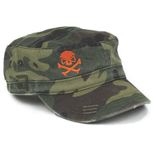 Woodland Camo / Orange; Pipe Hitters Union Fidel Hat - HCC Tactical