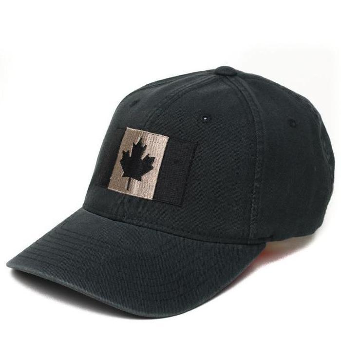 Black / Pewter; Pipe Hitters Union Canadian Flag Flexfit Hat - HCC Tactical