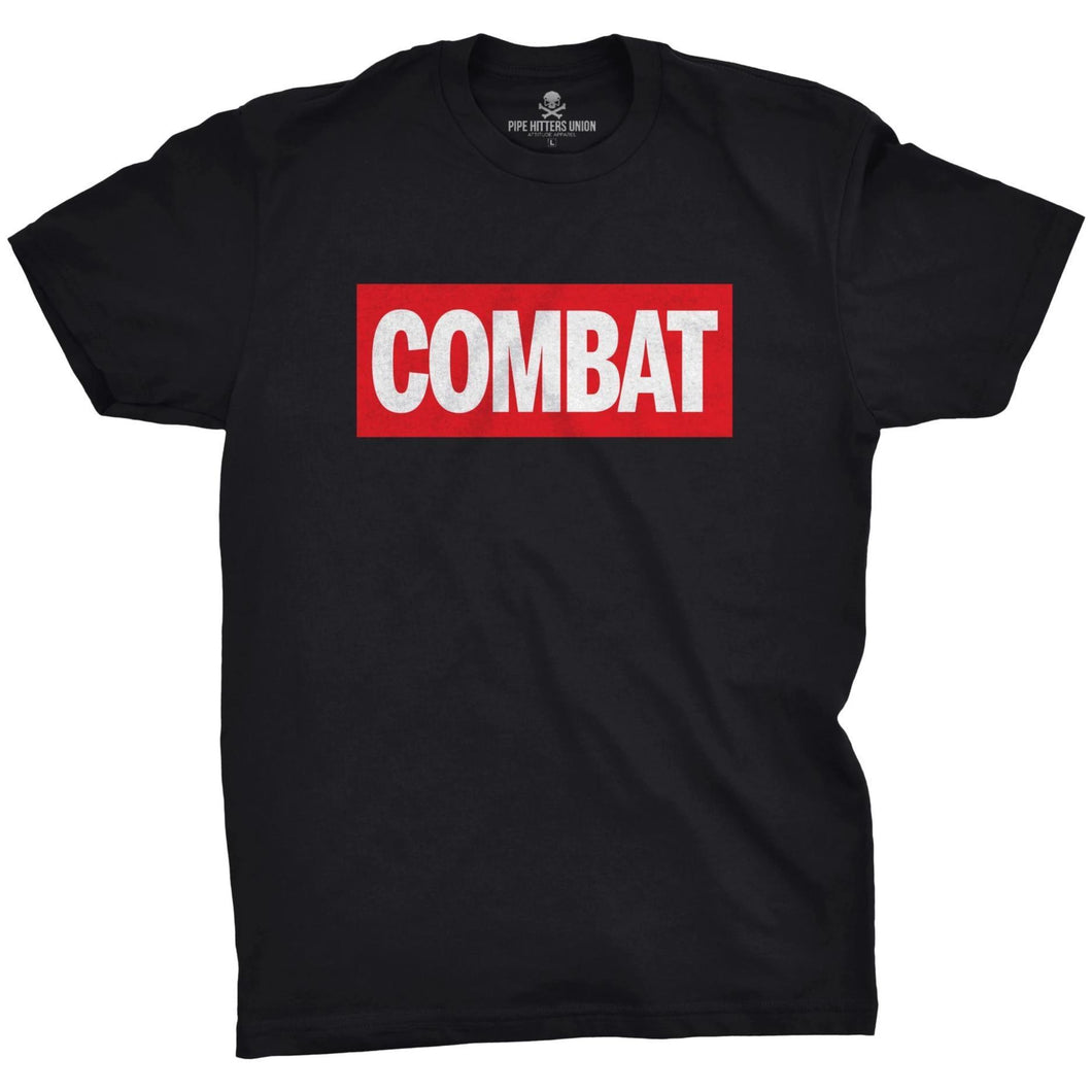 Black; Pipe Hitters Union Combat: Comic Edition Tee - HCC Tactical