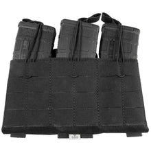 Black; Grey Ghost Gear Compact Triple Mag Panel 5.56 - HCC Tactical
