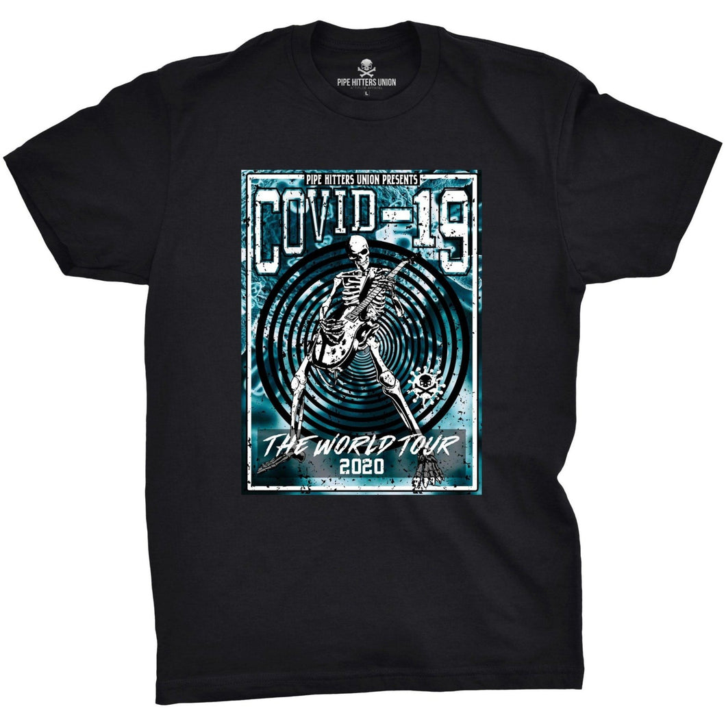 Black / Blue; Pipe Hitters Union Covid-19 World Tour Tee - HCC Tactical