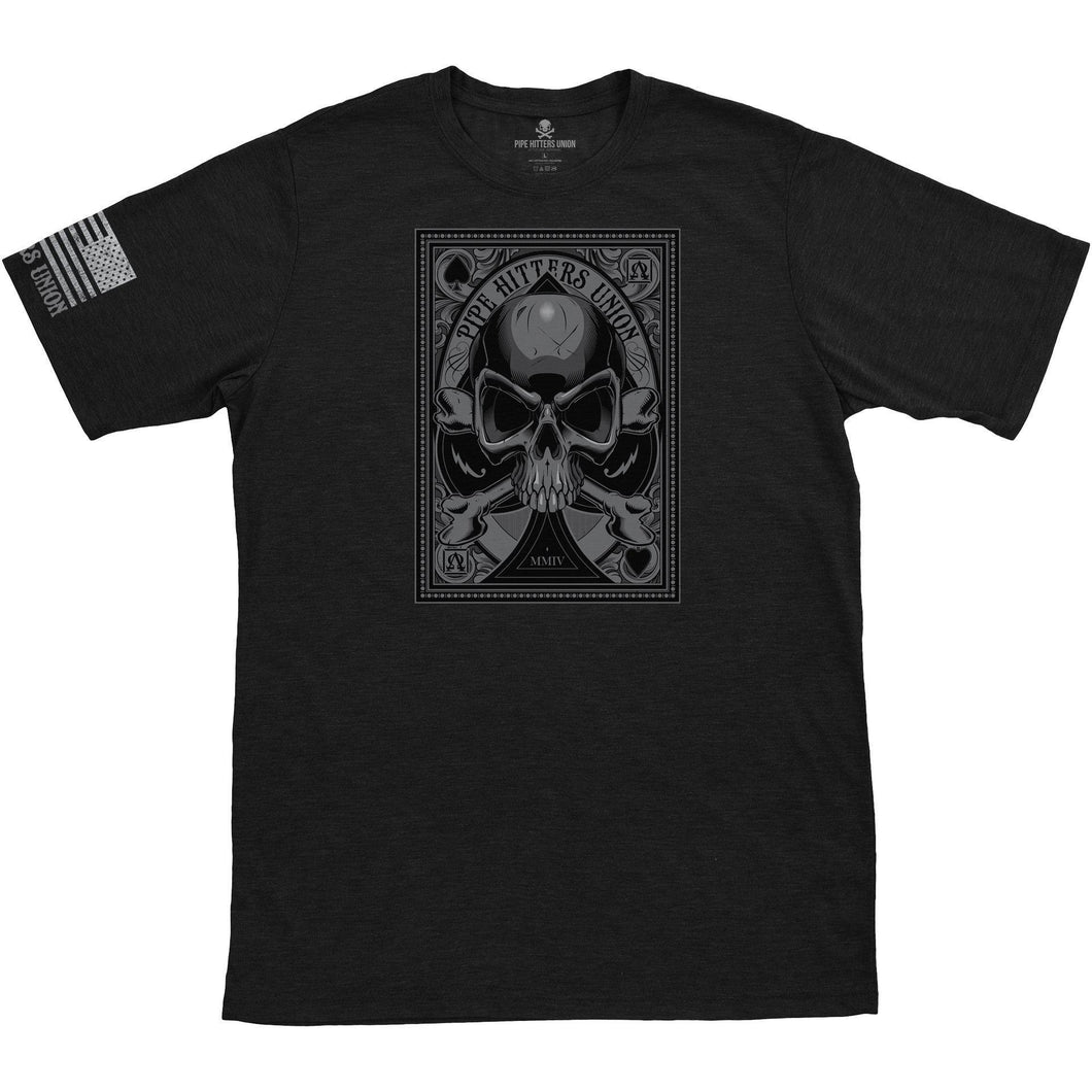 Black; Pipe Hitters Union Death Card - Ace - HCC Tactical