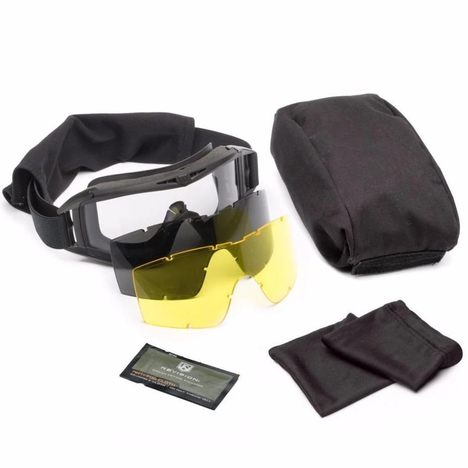 Revision Desert Locust Goggle Deluxe Kit Black - HCC Tactical
