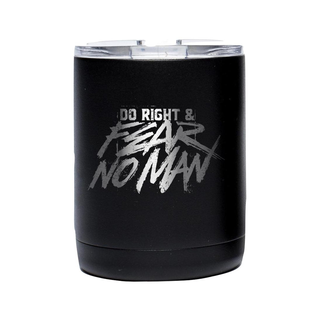 Stainless/Black; Pipe Hitters Union Do Right And Fear No Man - Tumblers 10oz - HCC Tactical