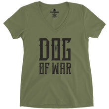 Military Green; Pipe Hitters Union Dog of War (V-Neck) - HCC Tactical