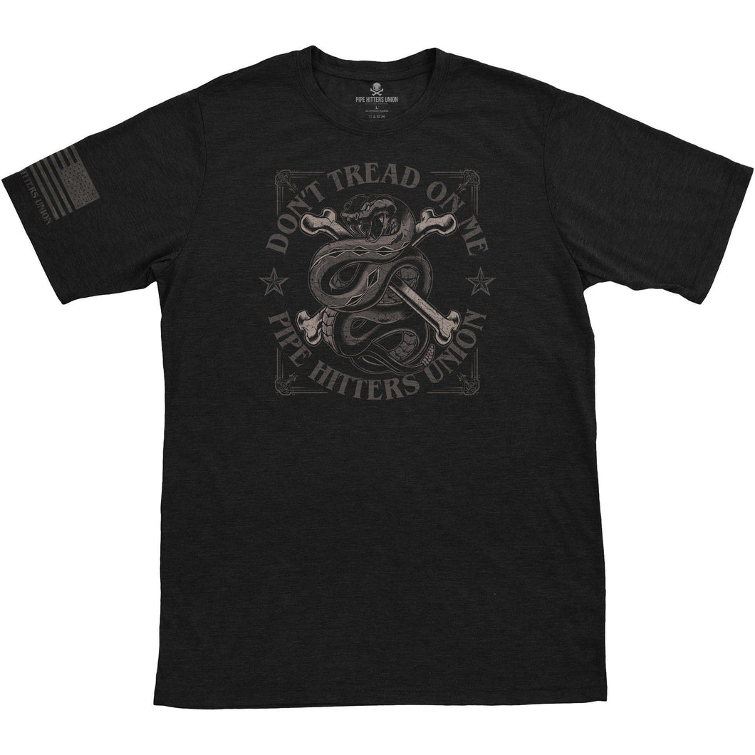 Black; Pipe Hitters Union Don't Tread On Me - HCC Tactical