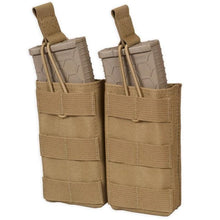Coyote; Chase Tactical Double 5.56 Mag Pouch - HCC Tactical