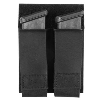 Black; Grey Ghost Gear Double Pistol Magna Mag Pouch - Laminate - HCC Tactical