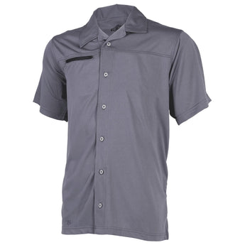 Steel Grey; Tru-Spec Eco Tec Knit Camp Shirt - HCC Tactical