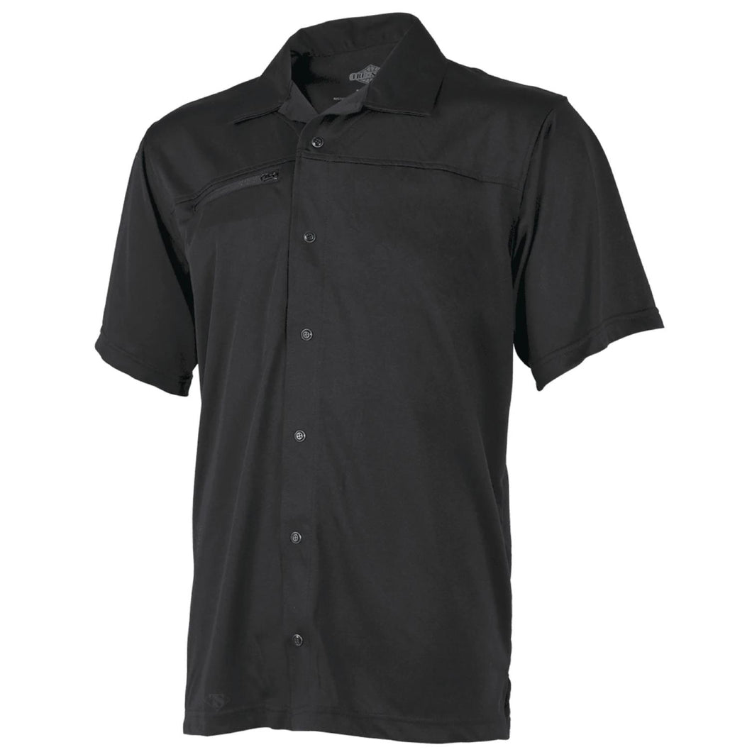 Black; Tru-Spec Eco Tec Knit Camp Shirt - HCC Tactical