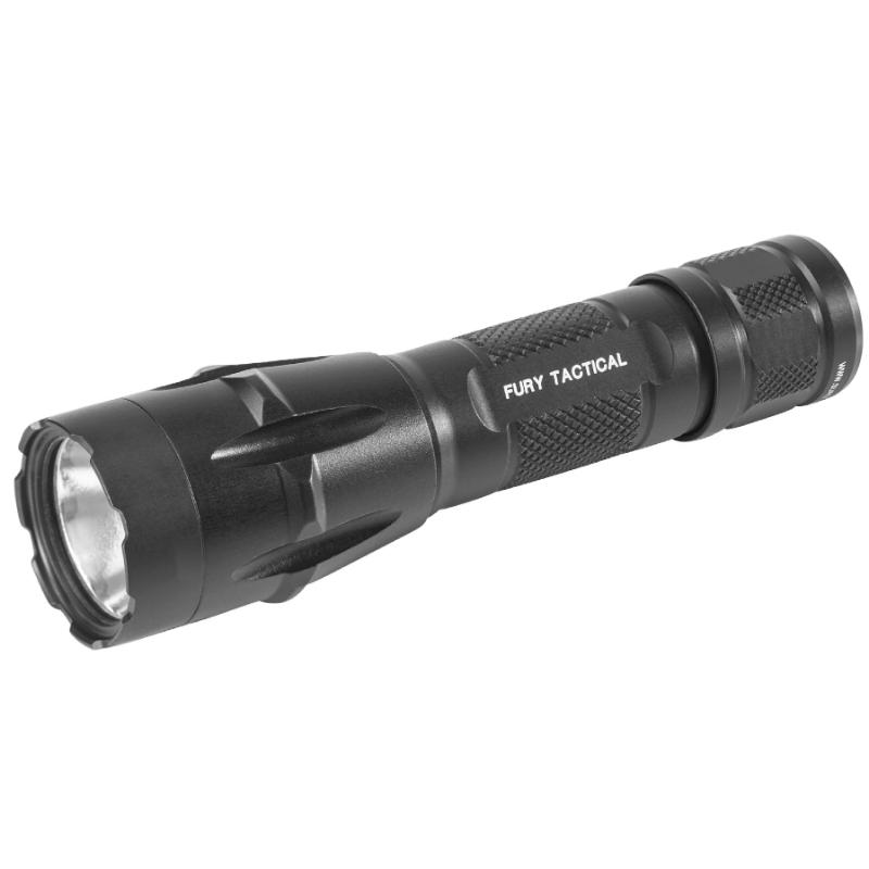 Black; FURY-DFT Dual Fuel Tactical LED Flashlight - HCC Tactical