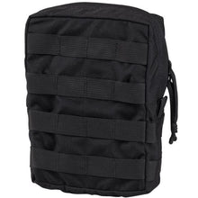 Black; Chase Tactical General Purpose Vertical Utility Pouch - HCC Tactical