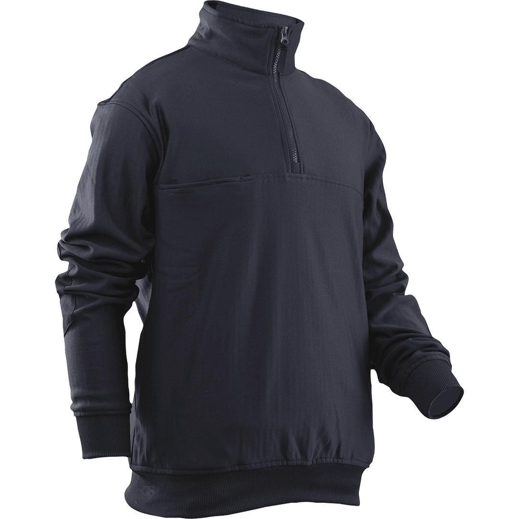 Navy; Tru-Spec Grid Fleece Zip Thru Job Shirt - HCC Tactical
