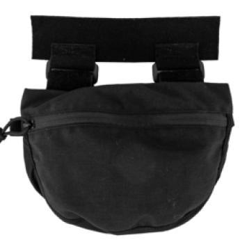 Black; Grey Ghost Gear Gut Hider Pouch (Plate Carrier Acc. Pouch) - HCC Tactical