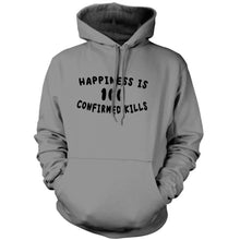 Grey; Pipe Hitters Union Happiness is 100 Confirmed Kills Hoodie - HCC Tactical